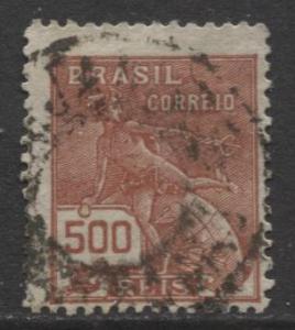 Brazil - Scott 230 - Mercury Issue -1920 - Used - Single 500r Stamp