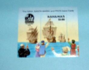 Bahamas - 692, MNH S/S. Discovery of America. SCV - $10.00