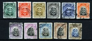 SOUTHERN RHODESIA King George V 1924-29 Admirals Issue SG 1 to SG 13 VFU