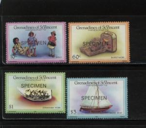 1986 St Vincent Grenadines Handicrafts 519-22 MNH