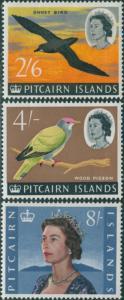 Pitcairn Islands 1964 SG46-48 Birds QEII MLH