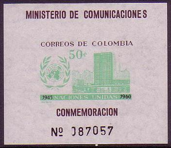 Colombia UN Day MS imperforate SG#MS1055 MI#Block 21