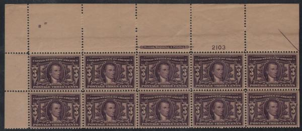 #325, Wide Top PB/10, VF/XF-OG-NH, SCV $2490
