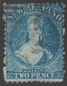 NEW ZEALAND 1864 2d Chalon perf 12½ SG114 used Retouched...................65567