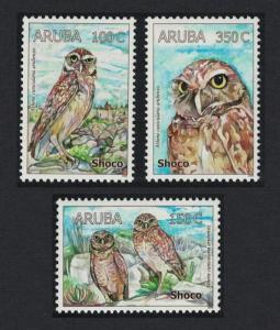 Aruba Burrowing Owl Athene cunicularia arubensis 3v SG#421-423