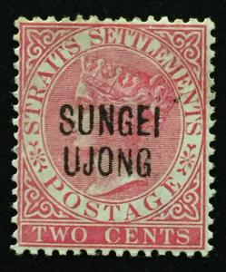 Malaya 1888 Sungei Ujong opt Straits Settlements QV 2c MH SG#42 M2131