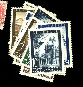 Austria #C47-53 (2) MINT F-VF OG NH Cat $18