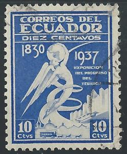 Ecuador #373 10¢ Winged Figure Holding Globe