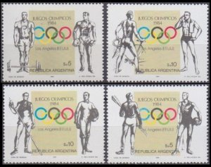 1984 Argentina 1696-1699 1984 Olympic Games in Los Angeles