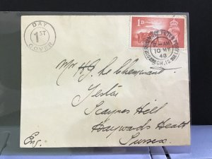 U.K 1948 1st Day Cover Hayward's Heath  stamp cover  R31252
