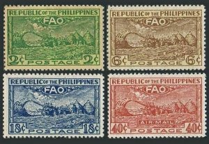Philippines 522-524,C67,MNH.Mi 483-486. Conference of FAO,Bagio,1948.Threshing.