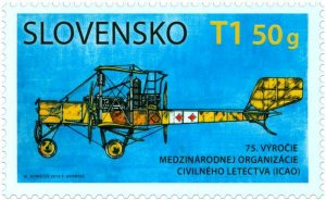 SLOVAKIA/2019 - 75th Year Of International Civil Aviation Org. (Airplane), MNH