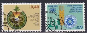 U.N. - Geneva # 103-104, Volunteers, Used Set