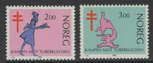 NORWAY SG896/7 1982 ANTI TUBERCULOSIS CAMPAIGN MNH