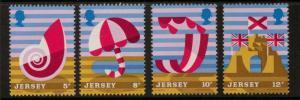 JERSEY SG124/7 1975 JERSEY TOURISM MNH