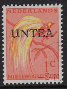 Netherlands West New Guinea UNTEA  #1 UN temporary authority 1962 cancelled 1c