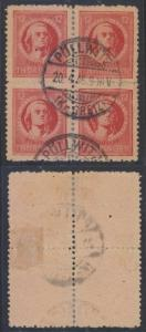 GERMANY SOVIET ZONE THURINGEN 1946 Michel 97AXv BLOCKx4 POLLWITZ Cds €1,600