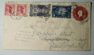 US Postal Marking Cover Delayed Directory Service Return to Writer Chicago PO