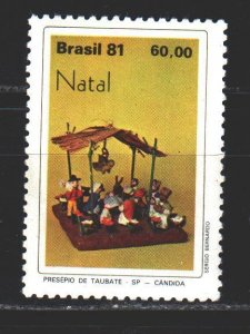 Brazil. 1981. 1858 from the series. Christmas. MNH.