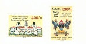 UGANDA 1763-64 MNH BIN$ 2.00
