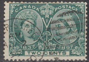 Canada #52 F-VF Used CV $15.00 (A16332)
