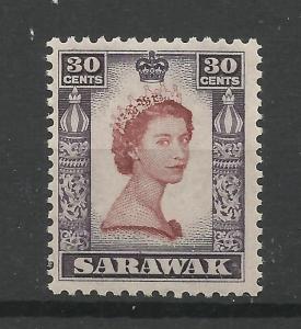 Sarawak 1955, Sg 198, 30c Red Brown & Deep Lilac, Very Lightly M/Mint [1452]