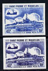 St Pierre & Miquelon 1971 Fisheries Protection Vessel...