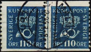 Sweden. 1920 110ore(Coil Pair) S.G.114A Fine Used