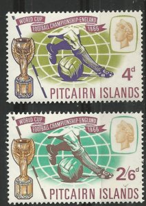 Pitcairn Island # 60-61  World Cup Soccer    (2) Mint NH