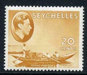 Seychelles SG140a 20c brown-ochre (Chalky) U/M
