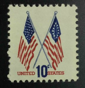 MOMEN: US STAMPS #10c VAR. FLAG COLOR SHIFT MINT OG NH LOT #52997