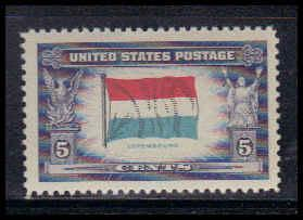 912 5c Flag of Luxembourg Fine MNH W3823