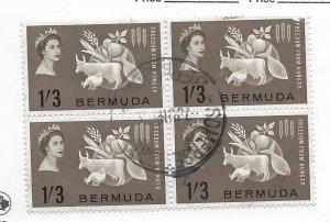 Bermuda #192 Block Used - Stamp - CAT VALUE $2.00