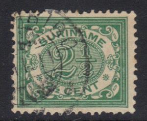 Surinam 1902 used numbers  2 1/2  ct     #