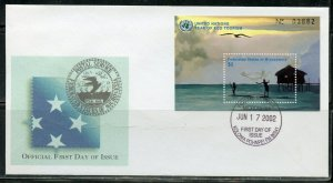 MICRONESIA 2002 YEAR OF ECO TOURISM SOUVENIR SHEET FIRST DAY COVER