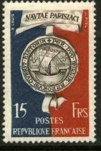 France 664, 2000th Anniversary of the Founding of Paris. UNUSED, H OG. VF. (6)