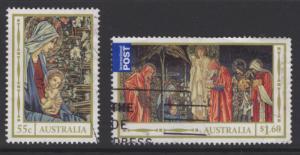 AUSTRALIA SG3882/3 2012 CHRISTMAS FINE USED