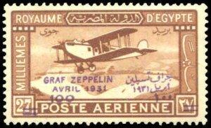 Graf Zeppelin Overprint Egypt C4 1931