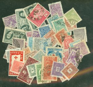 selection Brazil 1930-43 50 stamps CV about $40