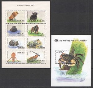S1031 ANGOLA FLORA & FAUNA WILD LARGE GIANT ANIMALS YEAR OF OCEAN KB+BL MNH