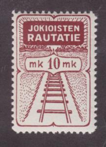 Finland HS 19 MLH. 1930 10mk Jokioinen Railway Stamp