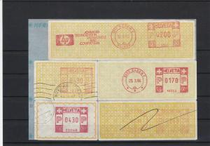 Switzerland 1982-84 Mixed Cancels HPSlogan Meter Mail Stamps Label Items Rf27618