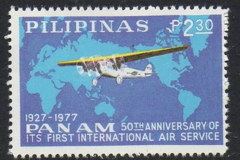 Philippines 1977 Aircraft Fokker Pan Am VF MNH (1337)