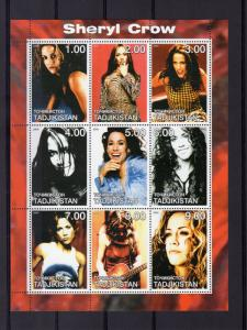 Tajikistan 2000 SHERYL CROW American singer-songwriter and actress Shlt (9) MNH