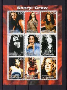 Tajikistan 2000 SHERYL CROW American singer-songwriter and actress Shlt (9) MNH