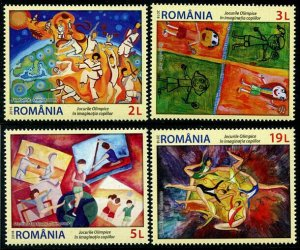 HERRICKSTAMP NEW ISSUES ROMANIA Sc.# 6170-73 Olympic Games Children's Drawings