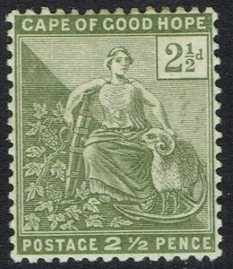 CAPE OF GOOD HOPE 1892 HOPE SEATED 21/2D