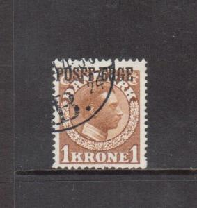 Denmark #Q11a Very Fine Used POSFF/ERGE Error **With Certificate**