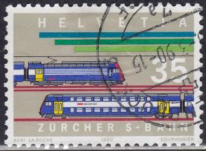 Switzerland 857 USED 1990 Urban Railway System 35c