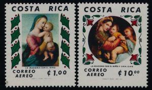Costa Rica C808-9 MNH Christmas, Madonna & Child